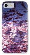 Spring's Embers - Cherry Blossom Petals On The Surface Of A Pond IPhone Case by Vivienne Gucwa
