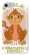 Spunky The Monkey IPhone Case by John Keaton