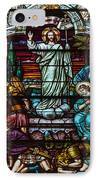 Stained Glass Jesus IPhone Case by Anthony Citro