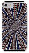 Stained Glass Kaleidoscope 49 IPhone Case by Rose Santuci-Sofranko