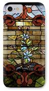 Stained Glass Lc 18 IPhone Case by Thomas Woolworth
