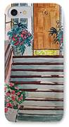 Stairs Sketchbook Project Down My Street IPhone Case by Irina Sztukowski