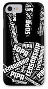 Stop Sopa-pipa IPhone Case by David Bearden