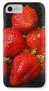 Strawberry Pyramid On Black IPhone Case by Andee Design