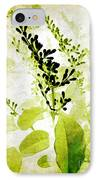 Study In Green IPhone Case by Judi Bagwell