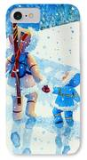The Aerial Skier - 2 IPhone Case by Hanne Lore Koehler