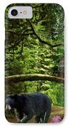 The Bear Went Over The Mountain IPhone Case by Lianne Schneider
