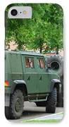 The Iveco Lmv Of The Belgian Army IPhone Case by Luc De Jaeger