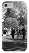 The Mall At Central Park In Black And White IPhone Case by Rob Hans