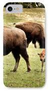 The Mighty Bison IPhone Case by Ellen Heaverlo