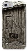 The Shed Sepia IPhone Case by Steve Harrington