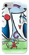 The Two Faces Of Golf IPhone Case by Mark Armstrong