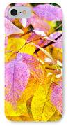 The Warm Glow In Autumn Abstract IPhone Case by Andee Design