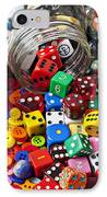 Three Jars Of Buttons Dice And Marbles IPhone Case by Garry Gay