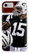 Tim Tebow  -  Ny Jets Quarterback IPhone Case by Paul Ward