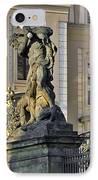 Titans Battling Outside Prague Castle IPhone Case by Christine Till