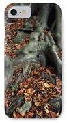 Tree Roots Of A Beech Tree IPhone Case by Adrian Bicker