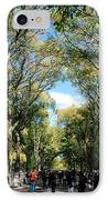 Trees On The Mall In Central Park IPhone Case by Rob Hans