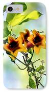 Trumpeting Spring IPhone Case by Kristin Elmquist