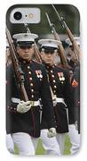 U.s. Marines March By During The Pass IPhone Case by Stocktrek Images