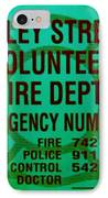 Valley Stream Fire Department In Irish Green IPhone Case by Rob Hans