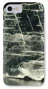 View Of A Sample Of Selenite, A Form Of Gypsum IPhone Case by Kaj R. Svensson