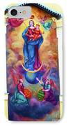 Virgin Mary Mural IPhone Case by Mariola Bitner