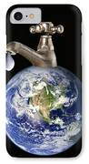 Water Conservation, Conceptual Image IPhone Case by Victor De Schwanberg