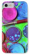 Watercolor Palette IPhone Case by Carlos Caetano