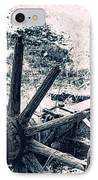 Weathered Wagon Wheel Broken Down IPhone Case by Tracie Kaska