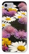 Wildflowers On Water IPhone Case by Emanuel Tanjala