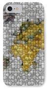 World Map Coin Mosaic IPhone Case by Paul Van Scott