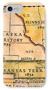 Kansas-nebraska Map, 1854 IPhone Case by Granger