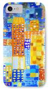 Abstract City IPhone Case by Setsiri Silapasuwanchai
