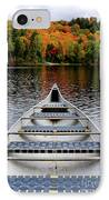Canoe On A Lake IPhone Case by Oleksiy Maksymenko