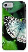 Tropical Checkered Skipper IPhone Case by Thomas R Fletcher