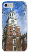 Independence Hall IPhone Case by John Greim