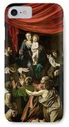 Madonna Of The Rosary IPhone Case by Caravaggio