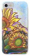 3 Sunflowers IPhone Case by Nadi Spencer