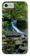 Waterfall In Deep Forest IPhone Case by Ulrich Schade