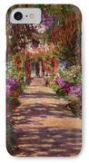 A Pathway In Monets Garden Giverny IPhone Case by Claude Monet