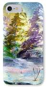A Silent Night IPhone Case by Mindy Newman