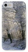 A Sparkling Winter Day IPhone Case by Sophie De Roumanie