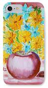 A Whole Bunch Of Daisies IPhone Case by Ramona Matei