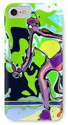 Abstract Female Tennis Player 2 IPhone Case by Chris Butler