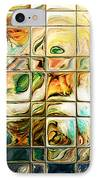 Abstract-through Glass IPhone Case by Patricia Motley