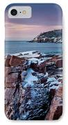 Acadian Cliffs Winter Sunrise 1 IPhone Case by Susan Cole Kelly