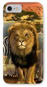 African Beasts IPhone Case by Andrew Farley