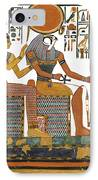 Ancient Egyptian Gods Hathor And Re IPhone Case by Ben  Morales-Correa