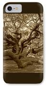 Angel Oak In Sepia IPhone Case by Suzanne Gaff